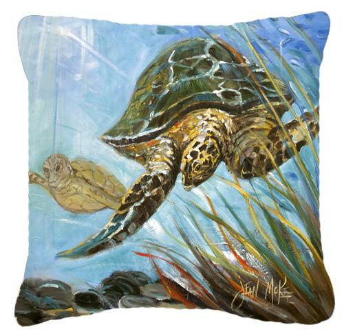 Loggerhead Sea Turtle Canvas Fabric Decorative Pillow by Caroline's Treasures