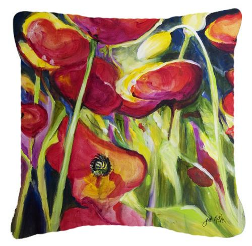 Buy this Poppies Canvas Fabric Decorative Pillow
