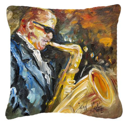 Jazz Sazophone Canvas Fabric Decorative Pillow by Caroline's Treasures