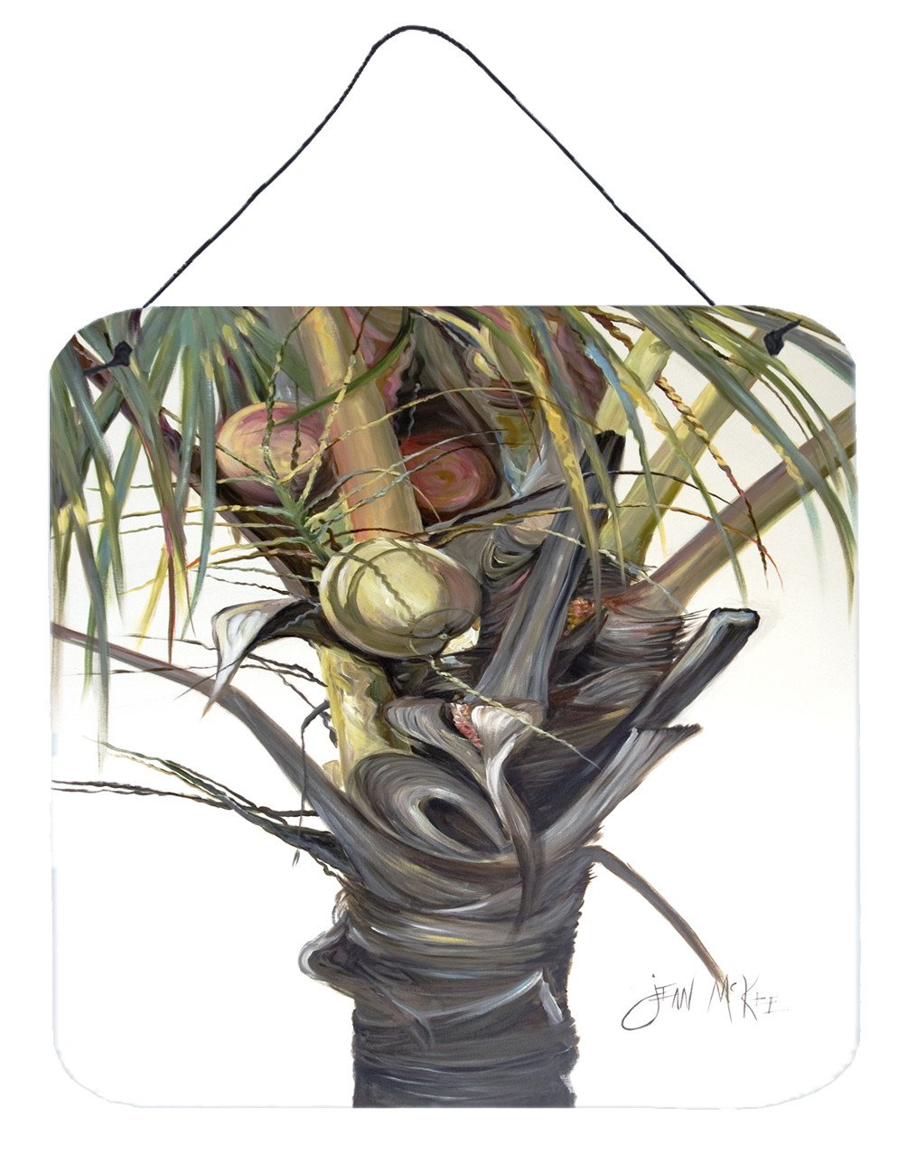 Coconut Tree Top Wall or Door Hanging Prints JMK1279DS66 by Caroline's Treasures