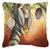 Orange Coconut Tree Canvas Fabric Decorative Pillow by Caroline's Treasures