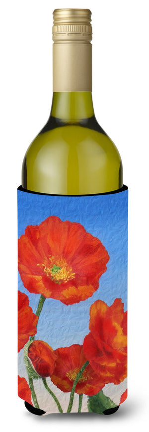 Buy this Poppies by Sinead Jones Wine Bottle Beverage Insulator Hugger JOS0273LITERK