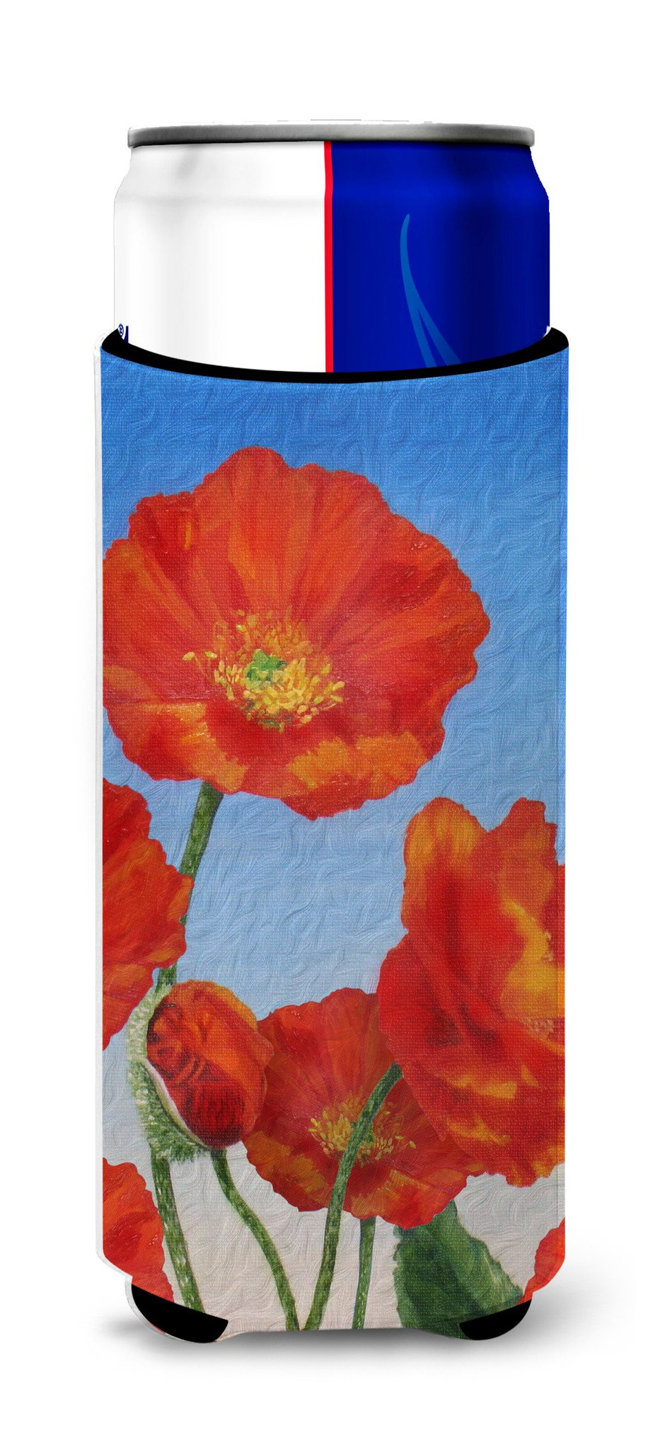 Buy this Poppies by Sinead Jones Ultra Beverage Insulators for slim cans JOS0273MUK