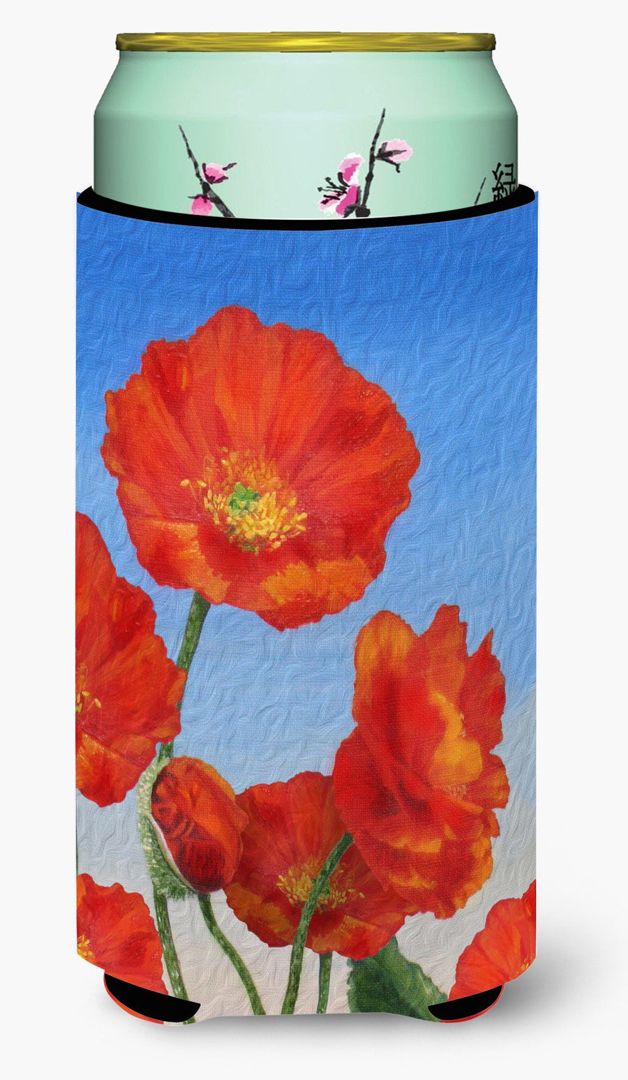 Buy this Poppies by Sinead Jones Tall Boy Beverage Insulator Hugger JOS0273TBC