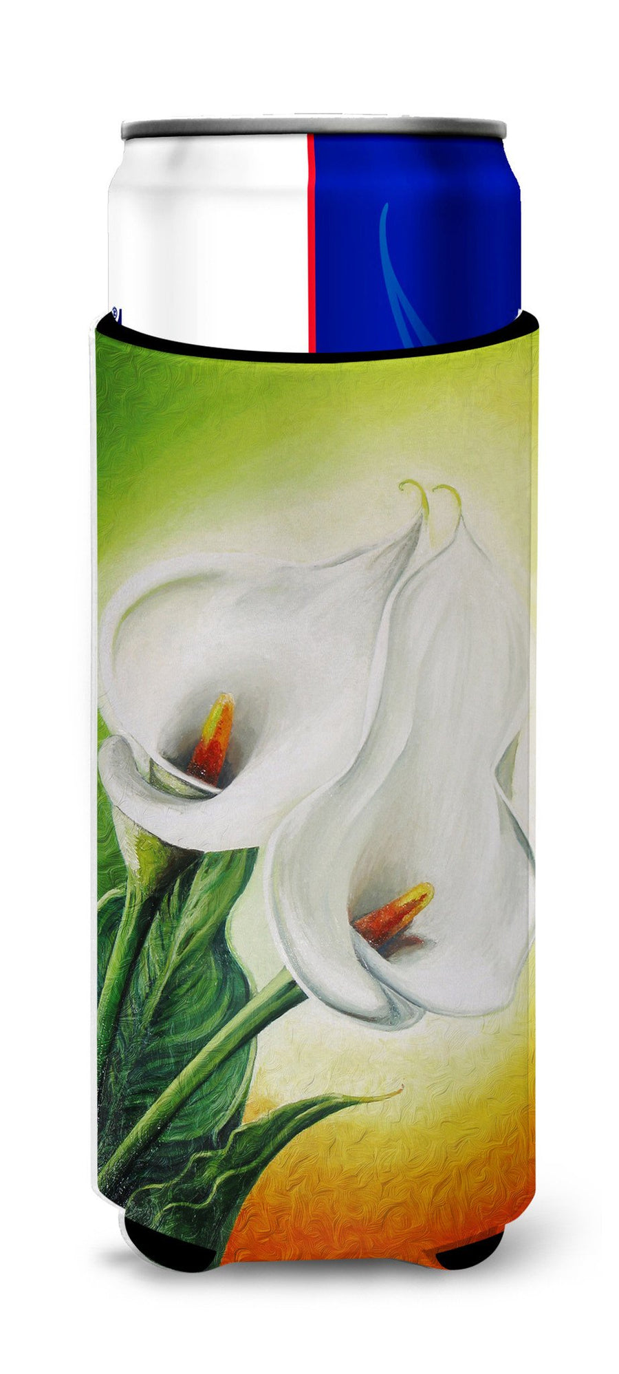 Buy this Lilies by Sinead Jones Ultra Beverage Insulators for slim cans JOS0274MUK