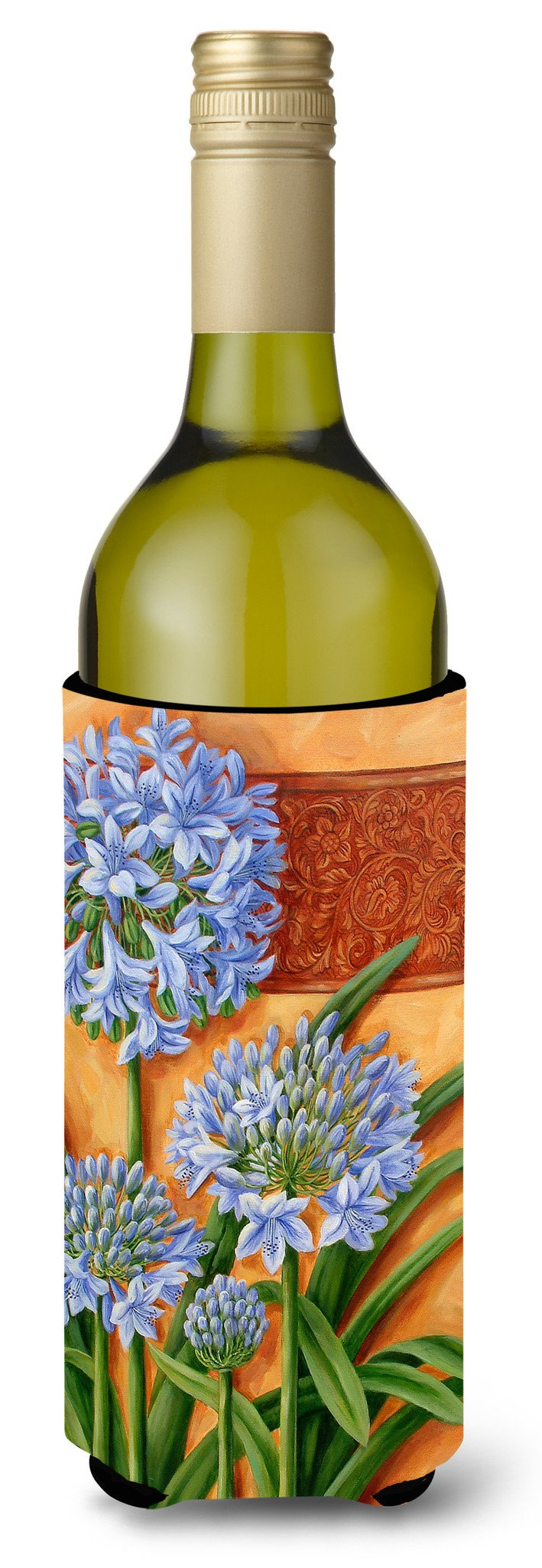 Buy this Agapanthus by Judith Yates Wine Bottle Beverage Insulator Hugger JYJ0072LITERK