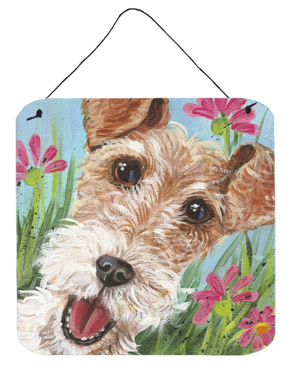 Buy this Fox Terrier by Judith Yates Wall or Door Hanging Prints JYJ0178DS66