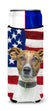 USA American Flag with Jack Russell Terrier Ultra Beverage Insulators for slim cans KJ1155MUK by Caroline's Treasures