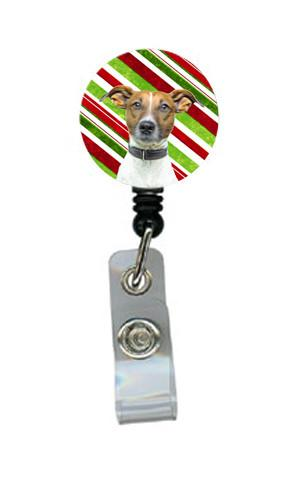 Candy Cane Holiday Christmas Jack Russell Terrier Retractable Badge Reel KJ1169BR by Caroline's Treasures