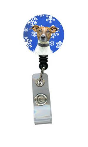 Winter Snowflakes Holiday Jack Russell Terrier Retractable Badge Reel KJ1176BR by Caroline's Treasures