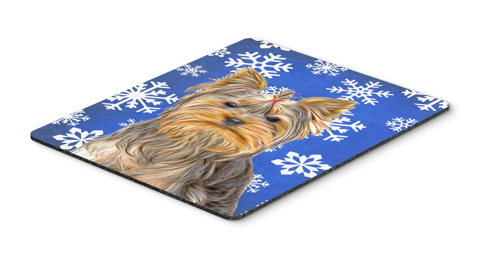 Buy this Winter Snowflakes Holiday Yorkie / Yorkshire Terrier Mouse Pad, Hot Pad or Trivet KJ1177MP
