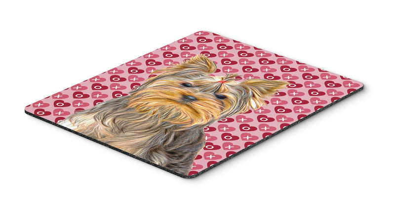 Buy this Hearts Love and Valentine's Day Yorkie / Yorkshire Terrier Mouse Pad, Hot Pad or Trivet KJ1191MP