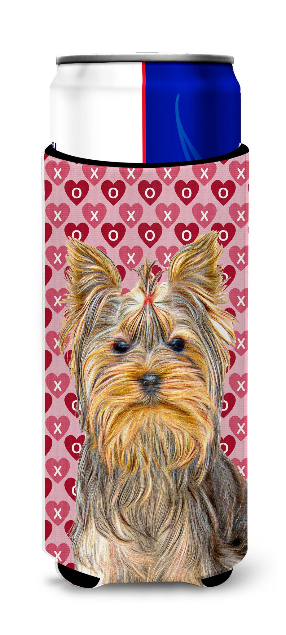 Hearts Love and Valentine's Day Yorkie / Yorkshire Terrier Ultra Beverage Insulators for slim cans KJ1191MUK by Caroline's Treasures