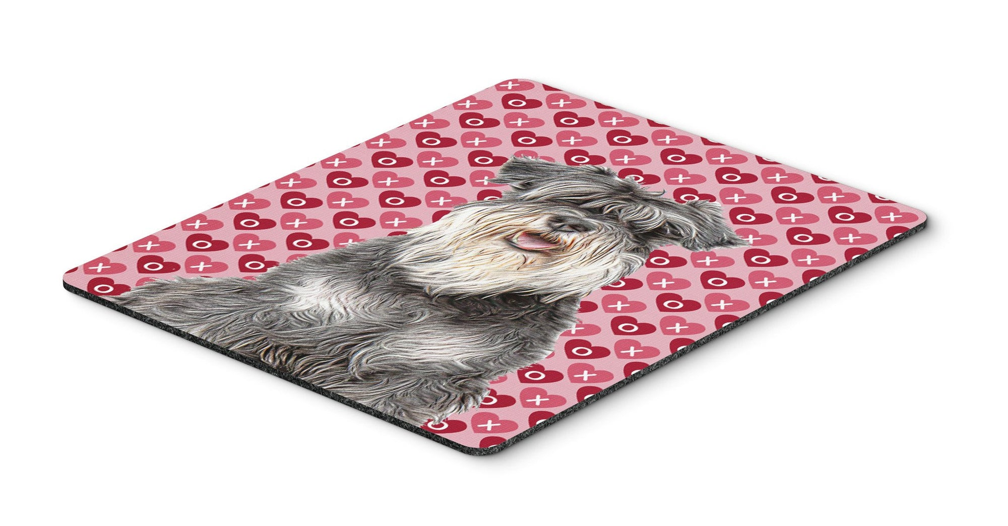 Hearts Love and Valentine's Day Schnauzer Mouse Pad, Hot Pad or Trivet KJ1192MP by Caroline's Treasures
