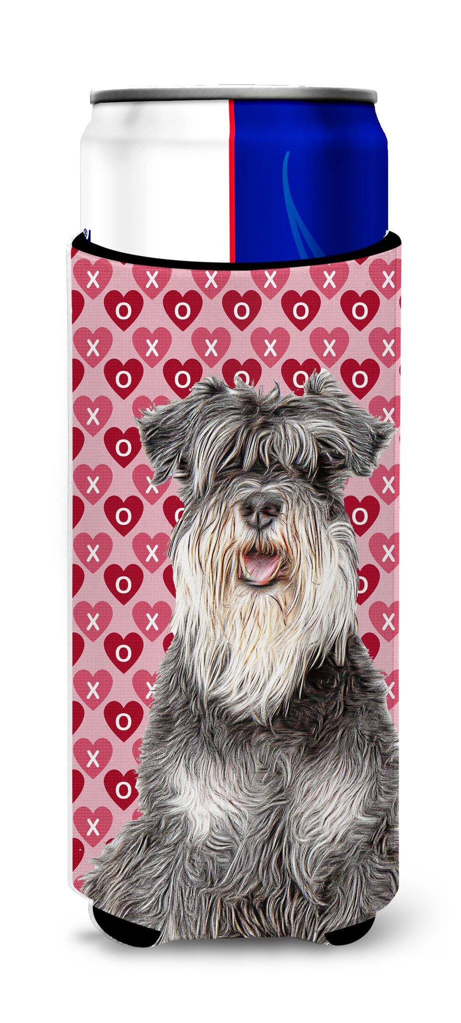 Hearts Love and Valentine's Day Schnauzer Ultra Beverage Insulators for slim cans KJ1192MUK by Caroline's Treasures