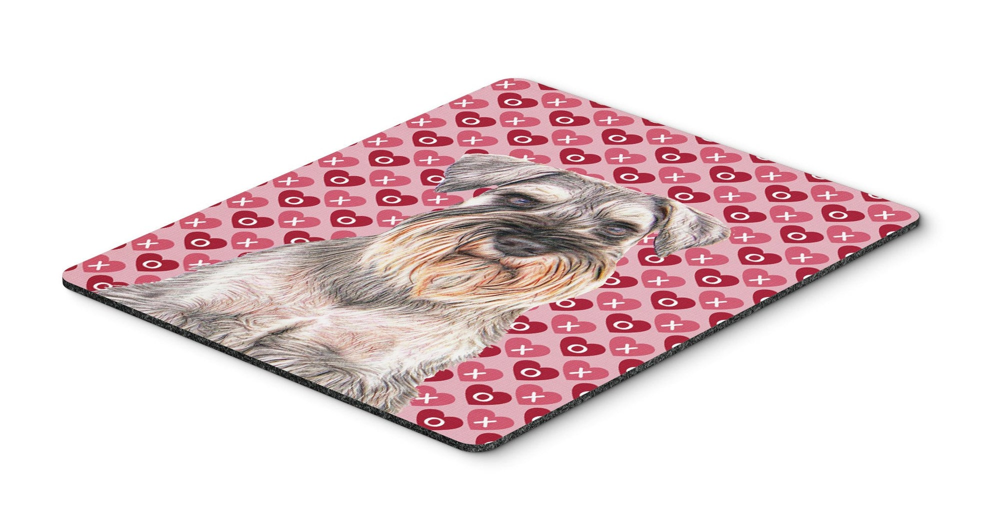 Hearts Love and Valentine's Day Schnauzer Mouse Pad, Hot Pad or Trivet KJ1193MP by Caroline's Treasures