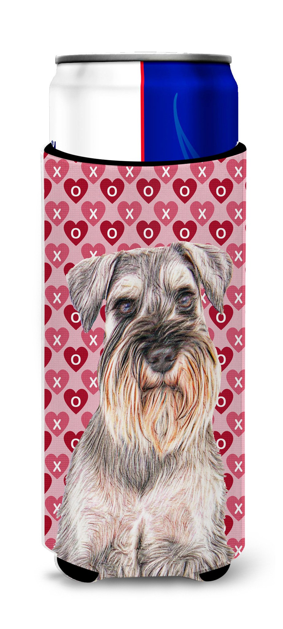Hearts Love and Valentine's Day Schnauzer Ultra Beverage Insulators for slim cans KJ1193MUK by Caroline's Treasures