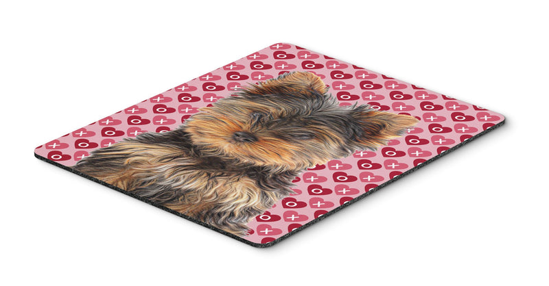 Buy this Hearts Love and Valentine's Day Yorkie Puppy / Yorkshire Terrier Mouse Pad, Hot Pad or Trivet KJ1195MP