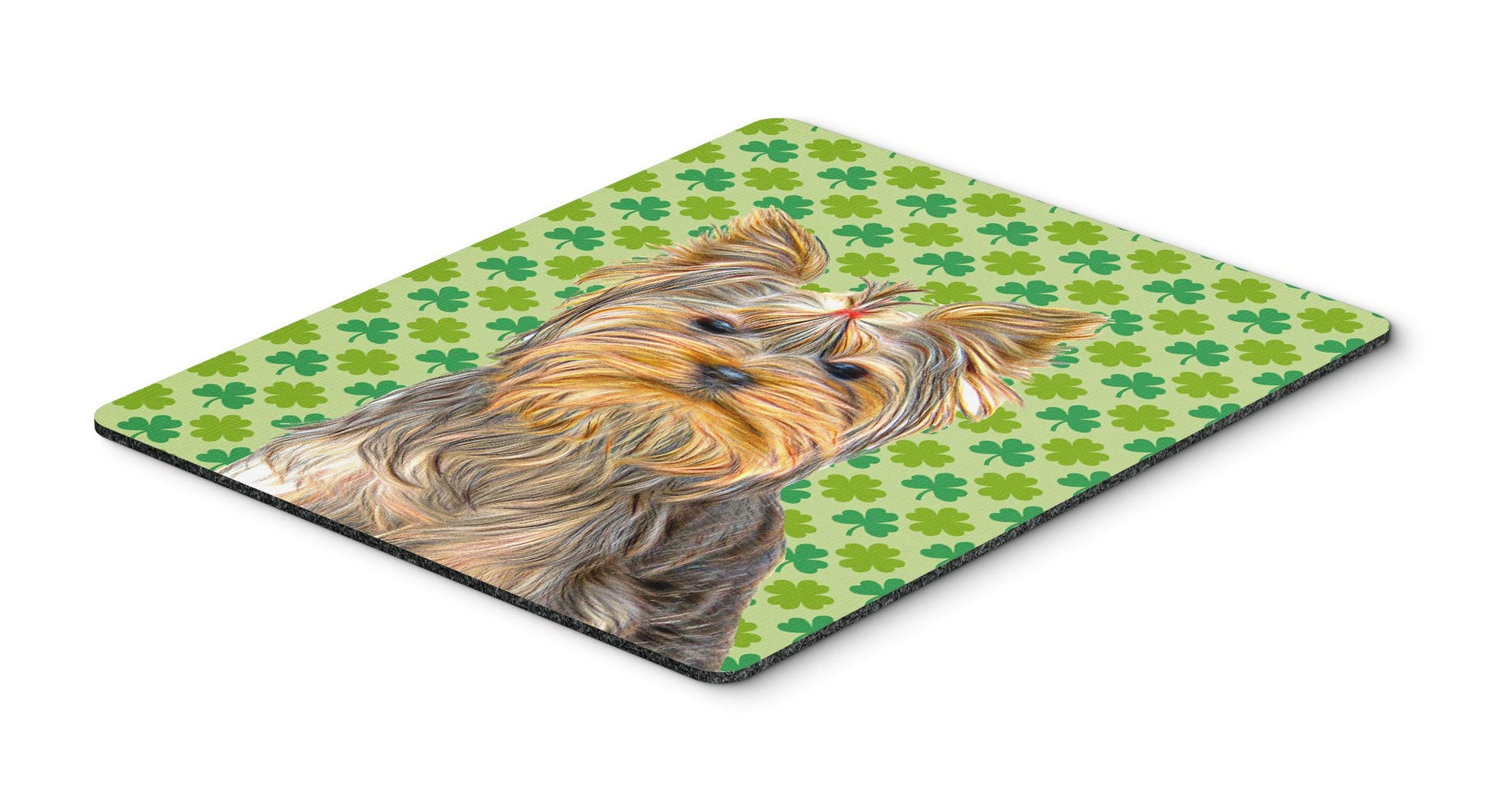 Buy this St. Patrick's Day Shamrock Yorkie / Yorkshire Terrier Mouse Pad, Hot Pad or Trivet KJ1198MP