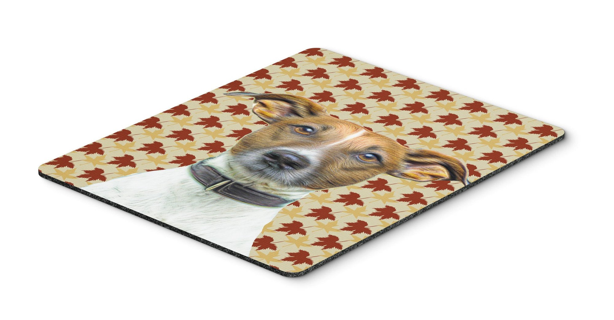 Fall Leaves Jack Russell Terrier Mouse Pad, Hot Pad or Trivet KJ1204MP by Caroline's Treasures