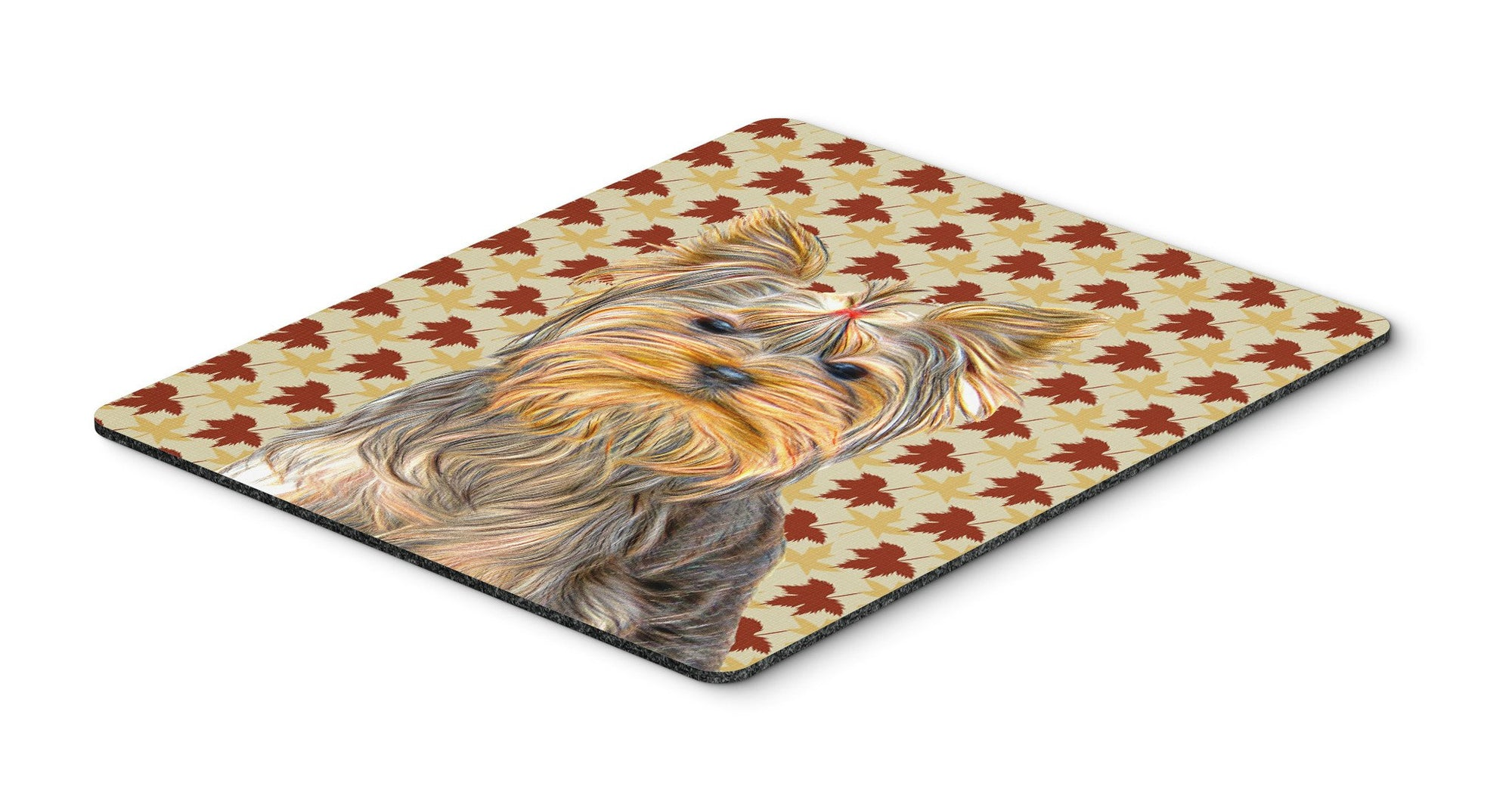 Buy this Fall Leaves Yorkie / Yorkshire Terrier Mouse Pad, Hot Pad or Trivet KJ1205MP