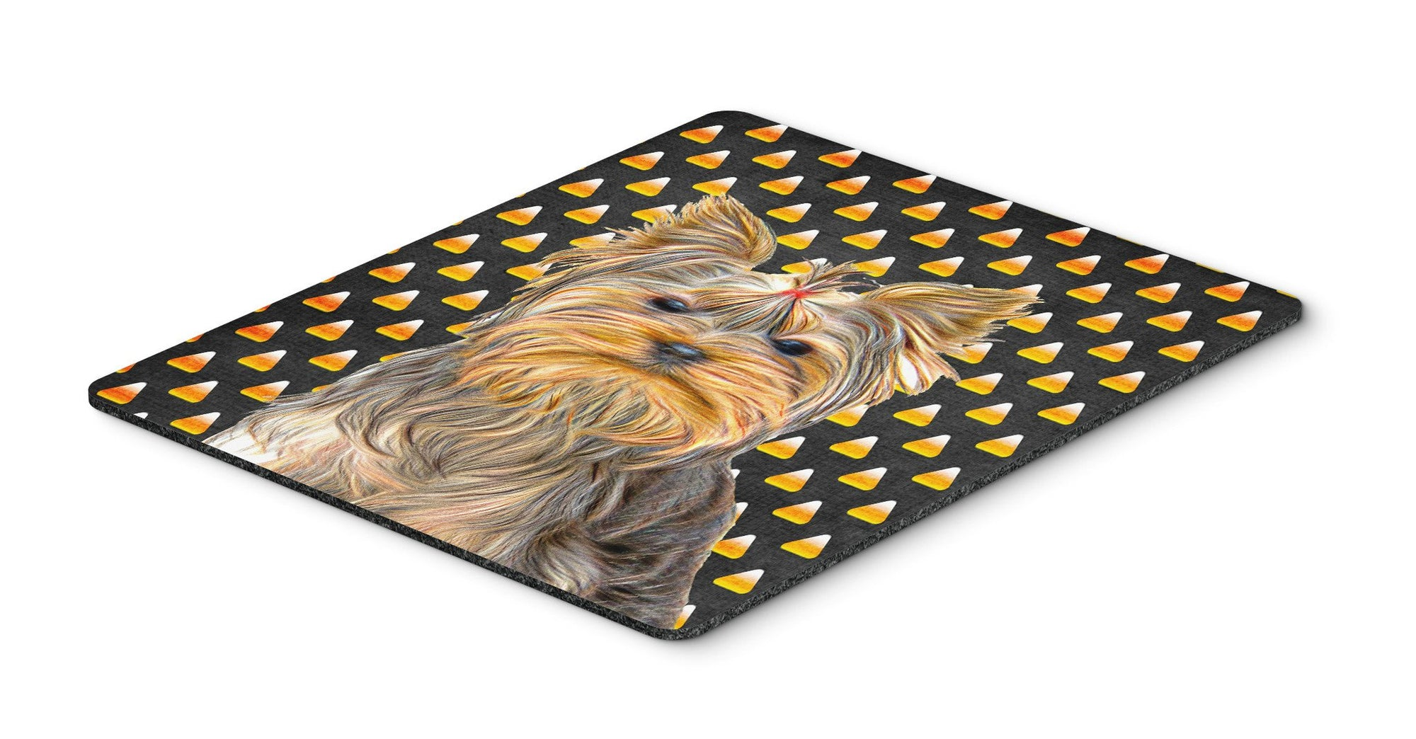 Buy this Candy Corn Halloween Yorkie / Yorkshire Terrier Mouse Pad, Hot Pad or Trivet KJ1212MP