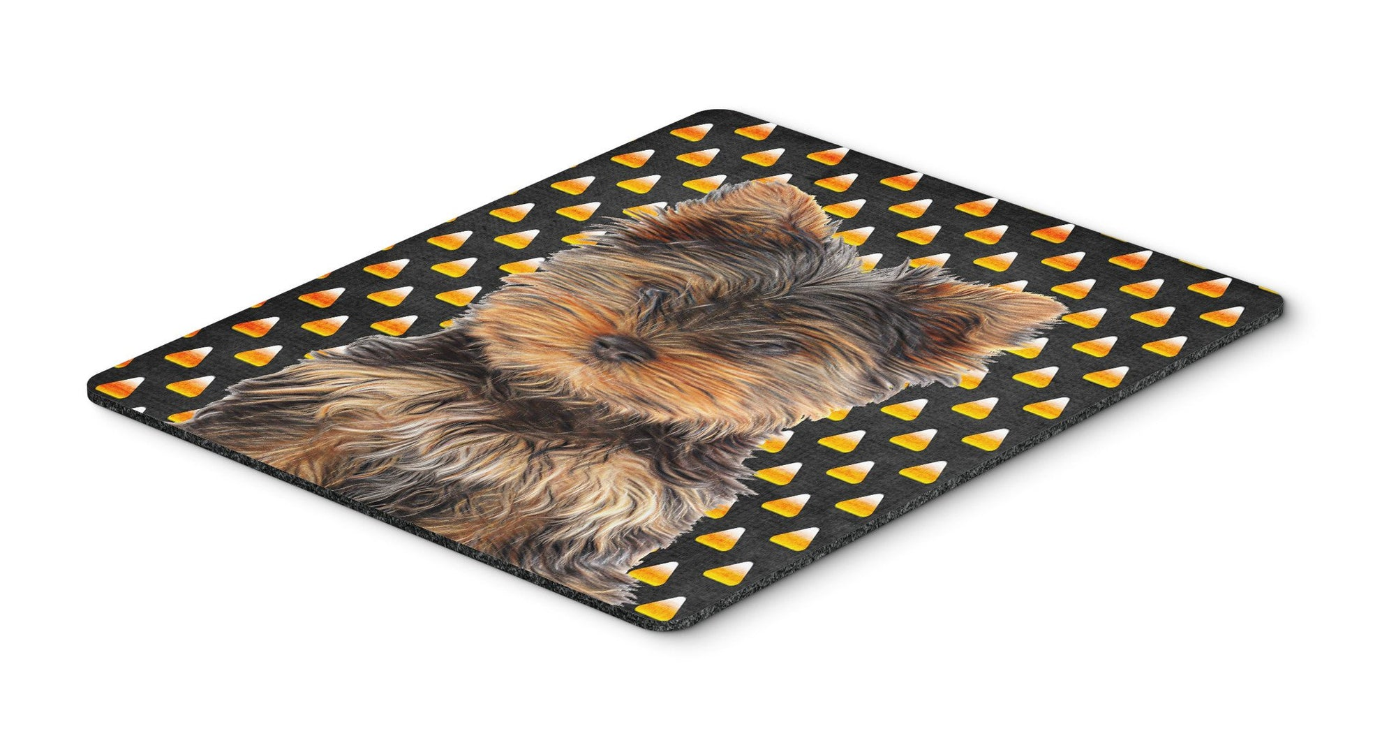 Buy this Candy Corn Halloween Yorkie Puppy / Yorkshire Terrier Mouse Pad, Hot Pad or Trivet KJ1216MP
