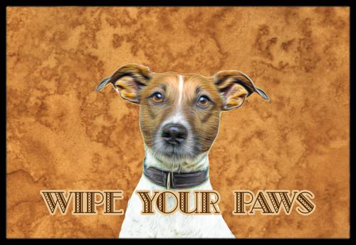 Jack Russell Terrier Wipe your Paws Indoor or Outdoor Mat 24x36 KJ1218JMAT by Caroline's Treasures