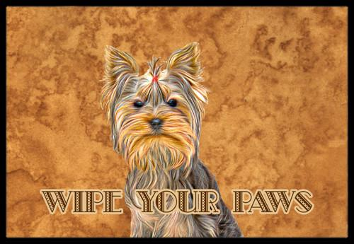 Yorkie / Yorkshire Terrier Wipe your Paws Indoor or Outdoor Mat 24x36 KJ1219JMAT by Caroline's Treasures