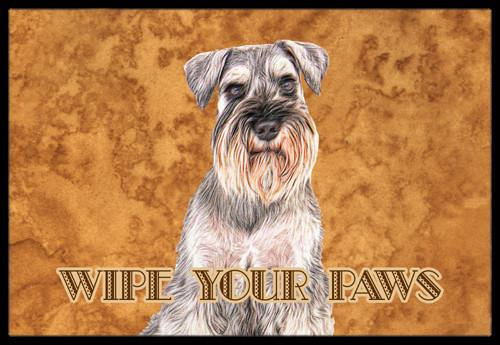 Schnauzer Wipe your Paws Indoor or Outdoor Mat 24x36 KJ1220JMAT by Caroline's Treasures