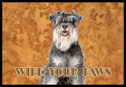Schnauzer Wipe your Paws Indoor or Outdoor Mat 24x36 KJ1221JMAT by Caroline's Treasures