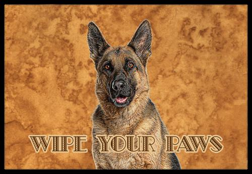 German Shepherd Wipe your Paws Indoor or Outdoor Mat 24x36 KJ1222JMAT by Caroline's Treasures