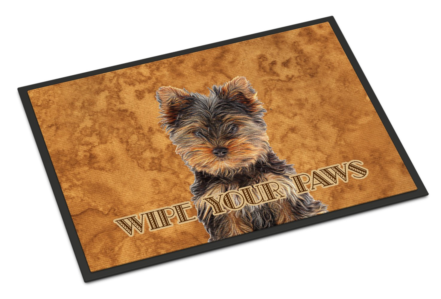 Yorkie Puppy / Yorkshire Terrier Wipe your Paws Indoor or Outdoor Mat 24x36 KJ1223JMAT by Caroline's Treasures