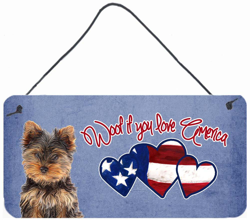 Buy this Woof if you love America Yorkie Yorkshire Terrier Wall or Door Hanging Prints