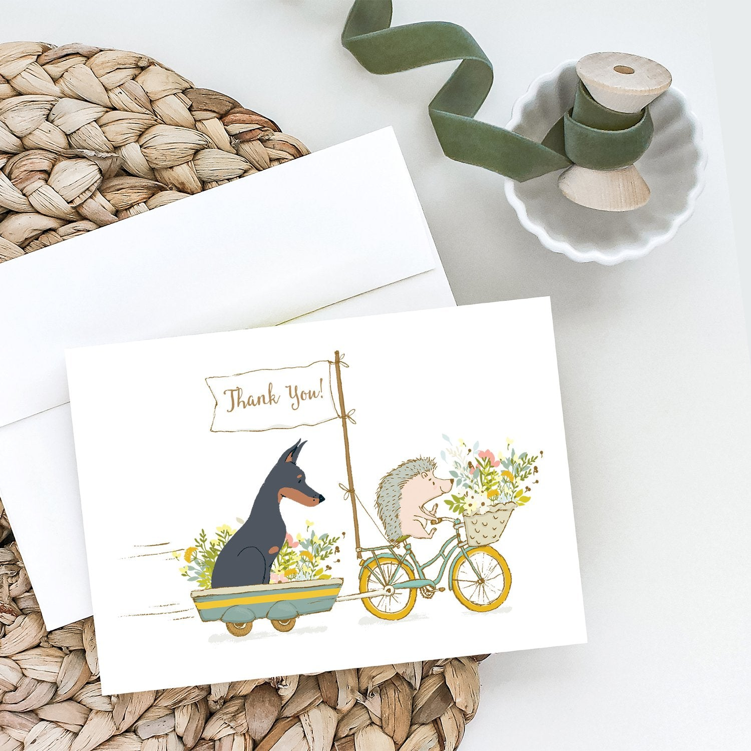 Buy this Doberman Pinscher Greeting Cards and Envelopes Pack of 8