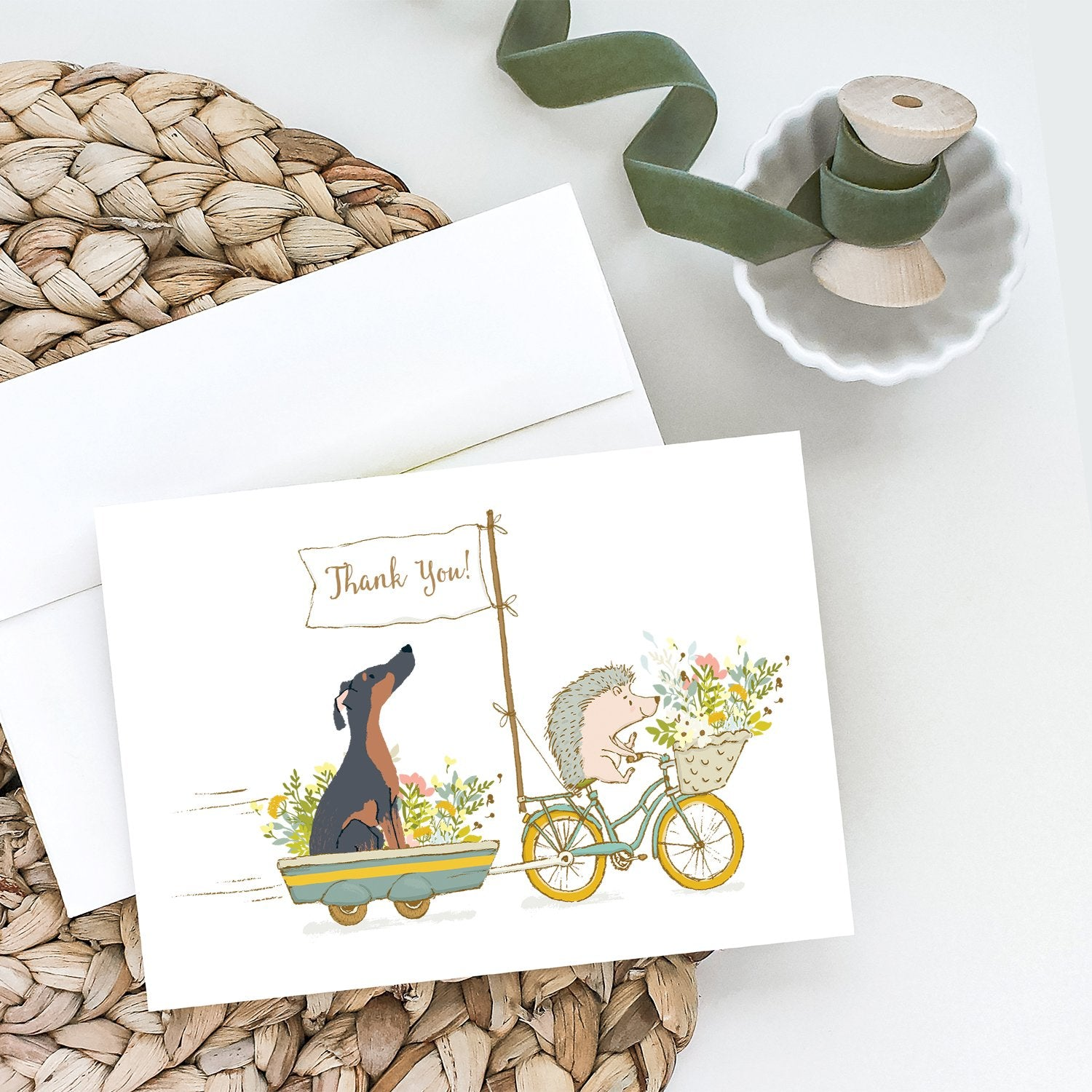 Buy this Doberman Pinscher Mix Greeting Cards and Envelopes Pack of 8