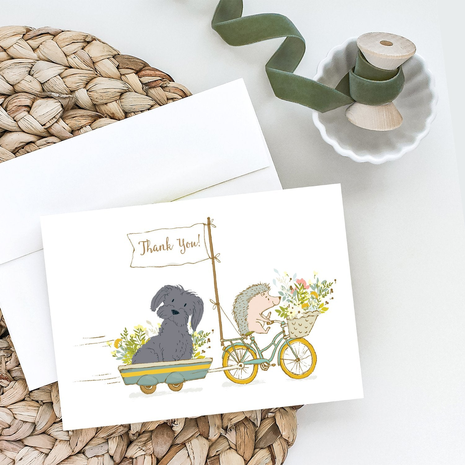 Buy this Maltese Black Greeting Cards and Envelopes Pack of 8