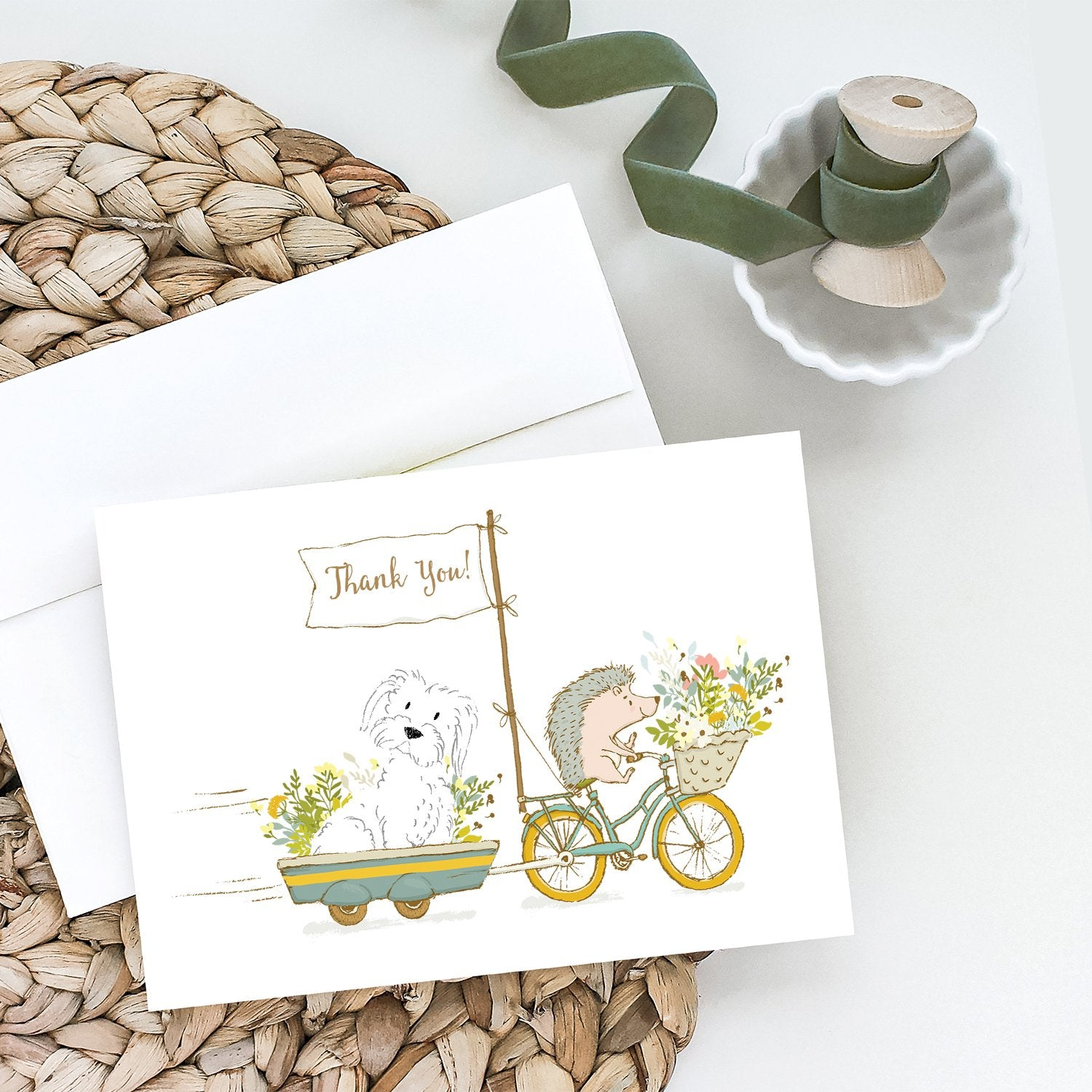 Buy this Maltese White Greeting Cards and Envelopes Pack of 8