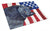 USA American Flag with Schipperke Glass Cutting Board Large by Caroline's Treasures