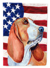 USA American Flag with Basset Hound Flag Garden Size by Caroline's Treasures