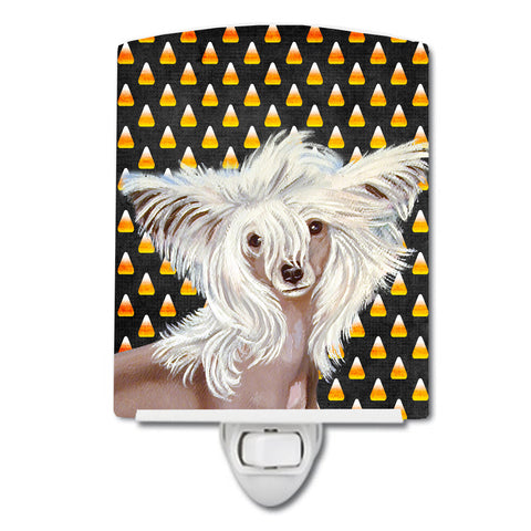 Buy this Chinese Crested Candy Corn Halloween Portrait Ceramic Night Light LH9042CNL