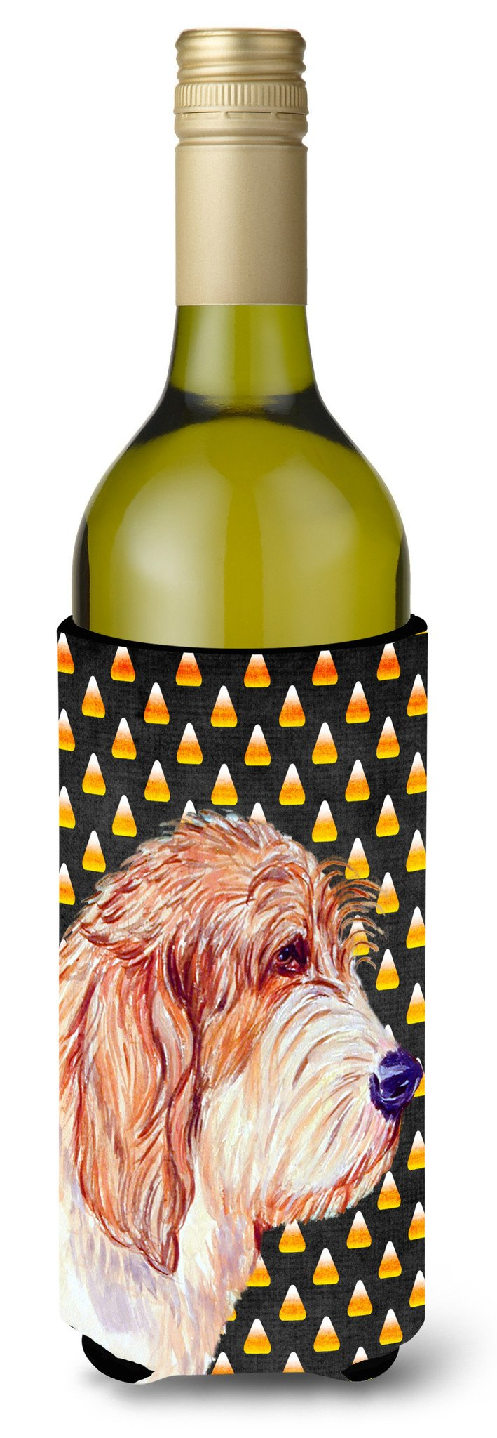 Buy this Petit Basset Griffon Vendeen   Halloween Portrait Wine Bottle Beverage Insulator Beverage Insulator Hugger