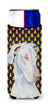 Great Dane Candy Corn Halloween Portrait Ultra Beverage Insulators for slim cans LH9052MUK by Caroline's Treasures