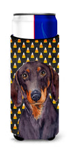 Dachshund Candy Corn Halloween Portrait Ultra Beverage Insulators for slim cans LH9054MUK by Caroline's Treasures