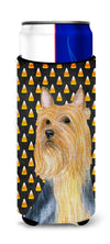 Silky Terrier Candy Corn Halloween Portrait Ultra Beverage Insulators for slim cans LH9057MUK by Caroline's Treasures