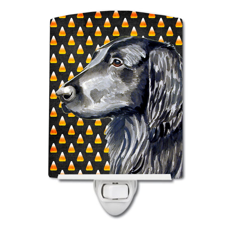 Buy this Flat Coated Retriever Candy Corn Halloween Portrait Ceramic Night Light LH9062CNL