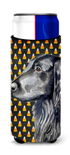 Flat Coated Retriever Candy Corn Halloween Portrait Ultra Beverage Insulators for slim cans LH9062MUK by Caroline's Treasures