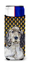 English Setter Candy Corn Halloween Portrait Ultra Beverage Insulators for slim cans LH9063MUK by Caroline's Treasures