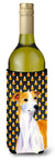 Whippet Candy Corn Halloween Portrait Wine Bottle Beverage Insulator Beverage Insulator Hugger by Caroline's Treasures