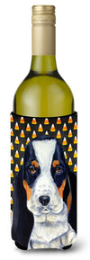 Basset Hound   Halloween Portrait Wine Bottle Beverage Insulator Beverage Insulator Hugger by Caroline's Treasures